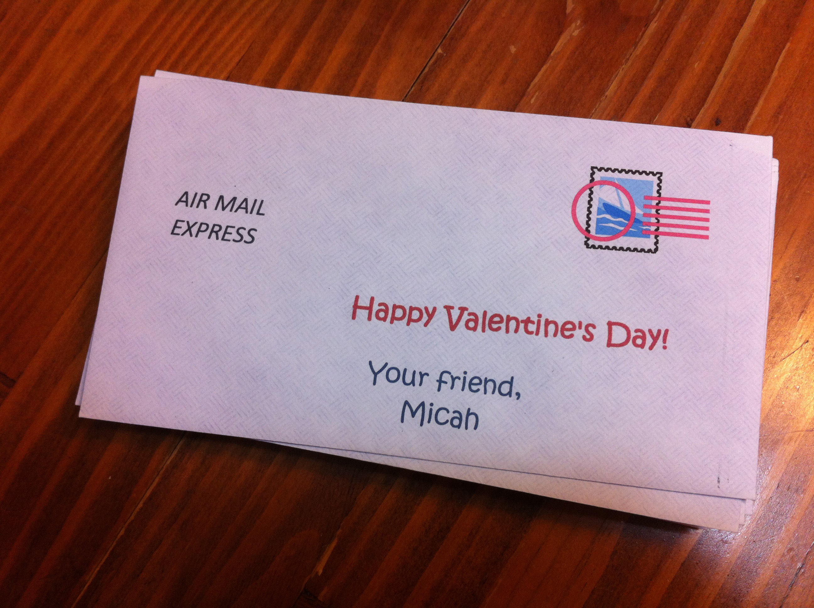 diy valentine air mail express
