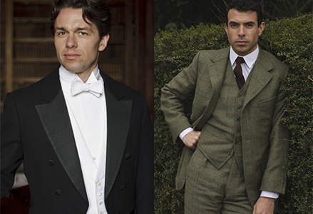 Charles Blake (Julian Ovenden on left and Lord Anthony Gillingham Tom Cullen on right