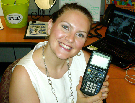 Chrissy with TI-83