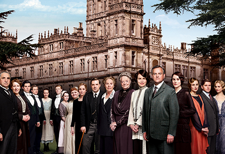 Downton servants and family photo