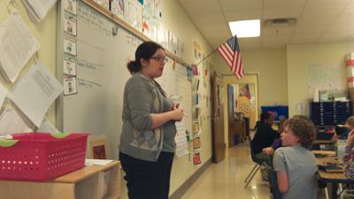 Ms. Eber in class