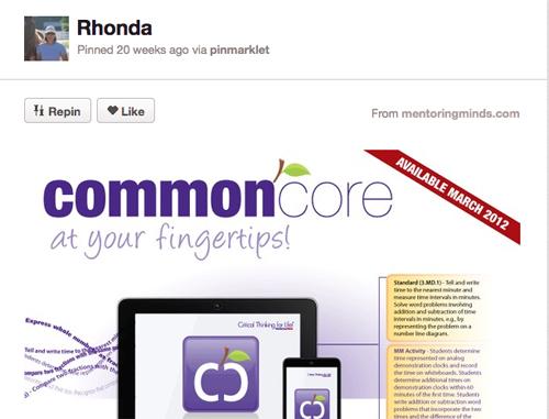 Pinterest Common Core  Board for Mac