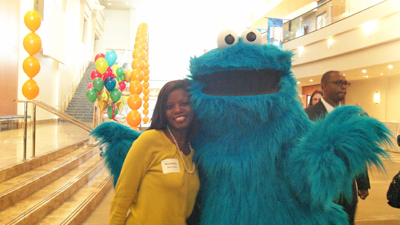 Rosemary and Cookie Monster