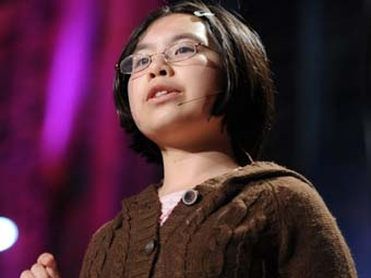 Adora Svitak gives a TEDtalk.