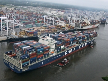 Savannah is now the nation's second-busiest port for exports, according to U.S. Department of Commerce figures provided by the Georgia Ports Authority.  (photo Georgia Ports Authority)