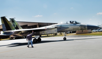 F-15 ready for test flight at Robins Air Force Base in Warner Robins (photo Sue Sapp RAFB)