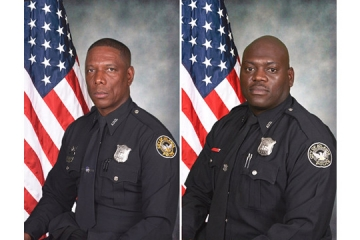 Atlanta Police Officers Shawn A. Smiley and Richard J. Halford were killed Saturday when their helicopter crashed into a utility pole. (photo courtesy officer.com)