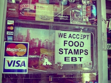 Food stamp use in Georgia is rising sharply.  The bleak jobs picture and continued economic weakness is blamed.  (photo Clementine Gallot)