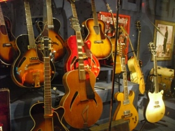 Gretsch Guitar collection at the Georgia Music Hall of Fame in Macon (photo Josephine Bennett)
