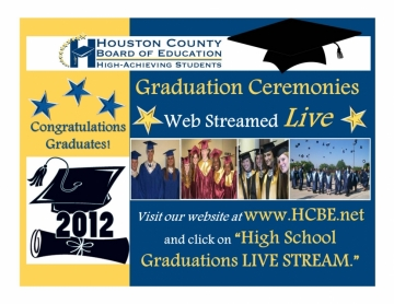 Houston County Schools graduation flyer (image courtesy Houston County Schools)