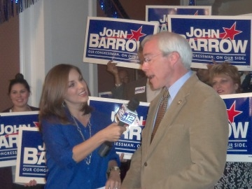 John Barrow is interviewed on the night of his fifth Congressional race victory in 2012.  (photo Orlando Montoya)