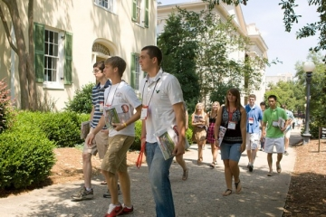 UGA Freshman walking on campus (image courtesy UGA)