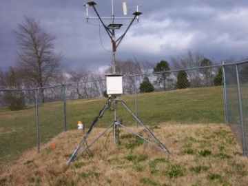 Georgia Automated Environmental Engineering Network weather station in Blairsville, Ga. (photo courtesy GAEMN)