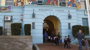 In this Jan. 31, 2012 file photo, students leave Miramonte Elementary, in the Clovis Unified School District in Los Angeles. School districts across California have taken out loans requiring payments that far exceed the original loan amounts.