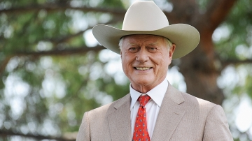 Actor Larry Hagman, star of the TV series <em>Dallas</em>, poses during the 2010 Monte Carlo Television Festival on June 8, 2010, in Monte Carlo, Monaco.