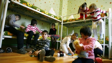 Children at an orphanage in the southern Russian city of Rostov-on-Don earlier this month.
