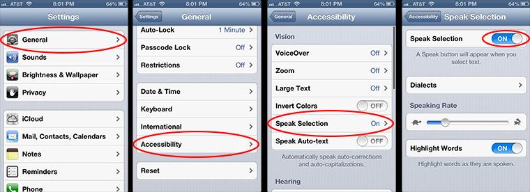 text to speech pdf iphone