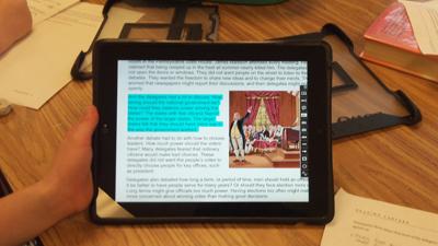Highlighted iPad