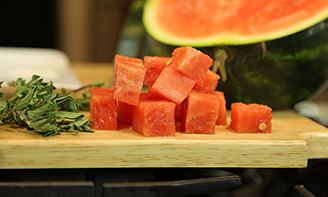 watermelon, feta & herb salad