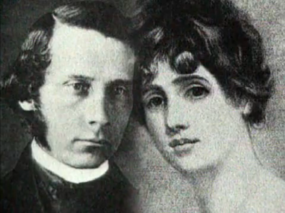 Fanny Kemble and husband Pierce Butler