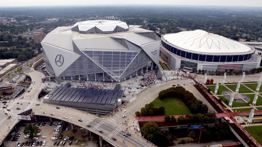 Headed To The Mercedes Benz Stadium Georgia Public