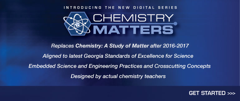 Click here for our new digital series – Chemistry Matters