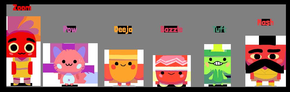Gasha Go characters