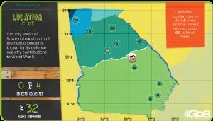 Georgia Race Through Time Georgia Public Broadcasting - Georgia map games