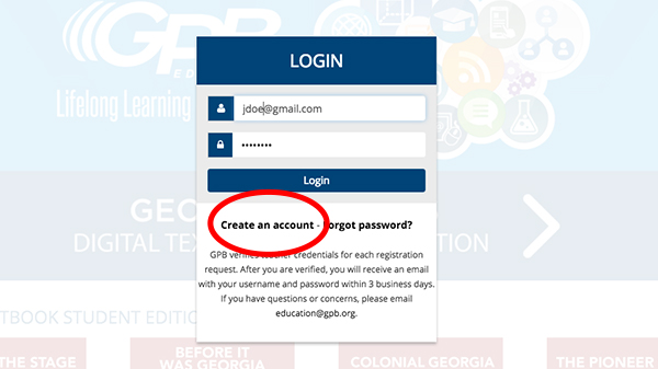 Georgia Studies Digital Textbook User Login Guide | Georgia