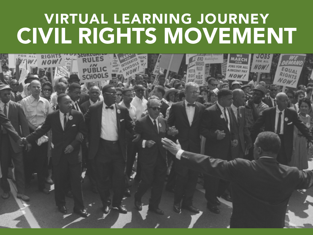 Virtual learning journey civil rights movement artwork