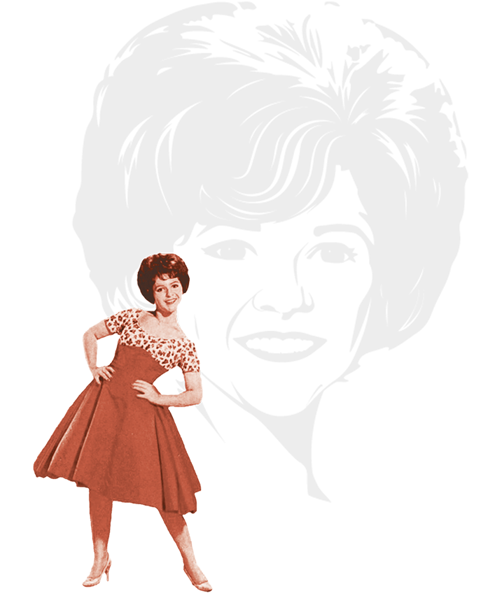 Image collage of Brenda Lee as a young singer