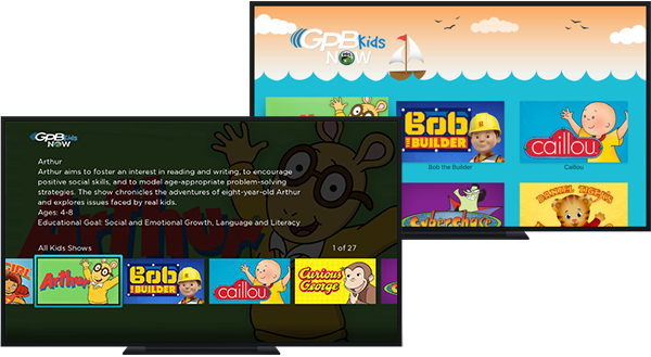Apple TV and Roku with GPB Kids Now