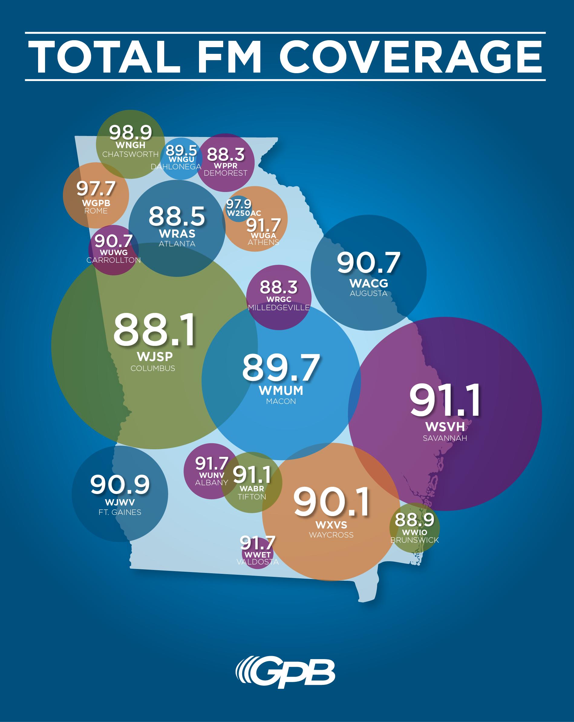GPB Radio: Stations | Georgia Public Broadcasting