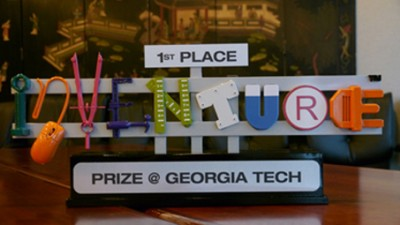 The 1st Place Trophey for the InVenture Prize.  Photo: GPB.