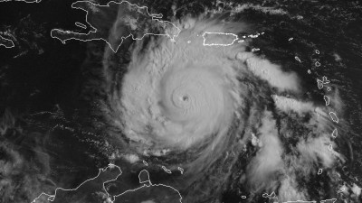 Visible satellite imagery of Hurricane Dean from August 18, 2007.