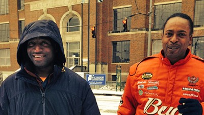 Renelle Rivers and Lamelle Levin stand on Catch out Corner on Ponce de Leon Atlanta. (Image from GPB's Tanya Ott)