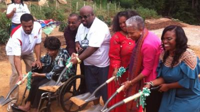 Cee Lo Green and Shadonna Alexander at Ground Breaking ceremony for Greenhouse Foundation