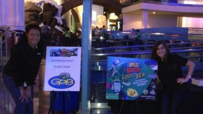 Rachel Daniels and Lara Fawaz at the Georgia Aquarium
