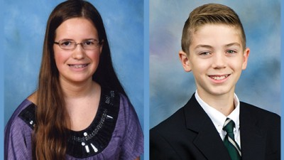 Rachael Cundey and Nicholas Poulos are competing in the 2013 Scripps National Spelling Bee in Washington, D.C.