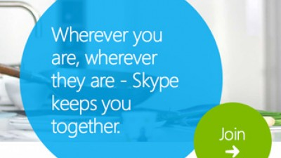 Skype uses internet connection to communicate.
