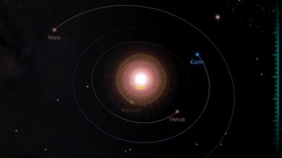 With Solar Walk 3D, you can travel through time to see how the planets revolve around the sun.