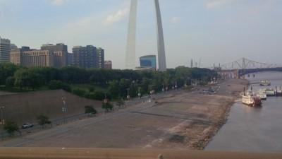 "St. Louis ""Gateway"" on return from Alton High School, Alton IL."