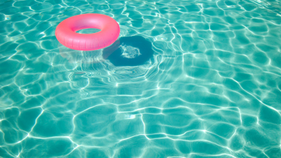 It's time to splash around in the swimming pool! But wait - what's in the water? And no, I'm not talking about the floaty ring.