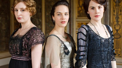 Sybil and her sisters in better times. Image courtesy Carnival Film & Television Limited 2013 for MASTERPIECE