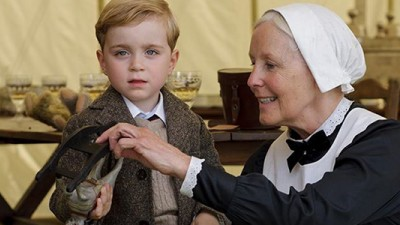 My how baby George has grown! Photo from Facebook Downton Abbey.