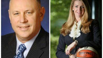 Jeff Sprecher (l) and his wife Kelly Loeffler (r) are a high profile couple in the financial world.