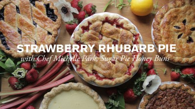 Sweet Strawberry & Rhubarb Pie