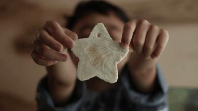 Make Leaf-Imprinted Ornaments