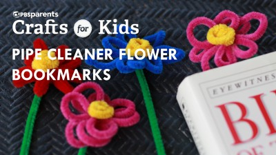 Pipe Cleaner Flower Bookmarks
