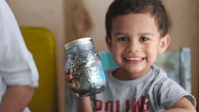 Make a Galaxy in a Jar